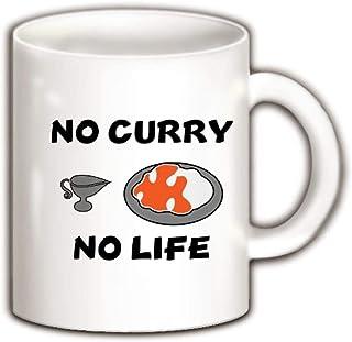 NO CURRY NO LIFE カレーが無いと生きてる意味無し。大好きカレーライス マグカップ(ホワイト) ホワイト