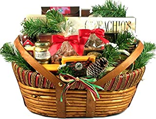 Holiday Comforts | Meat, Cheese & Nuts | Christmas Gift Basket | Size Large