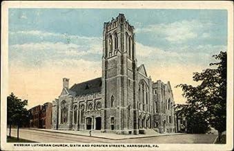 Messiah Lutheran Church, Sixth and Forster Streets Harrisburg, Pennsylvania PA Original Vintage Postcard