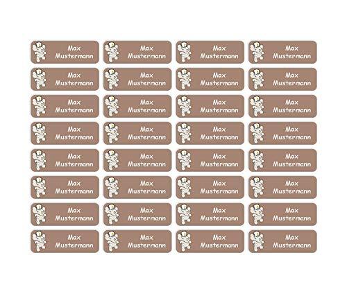 Sunnywall® Namensaufkleber Namen Sticker Aufkleber Sticker 4,8x1,6cm   60 Stück für Kinder Schule und Kindergarten 38 Hintergründe zur Auswahl (45 Elefant)