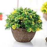 Fleur Artificielle Pots de Fleurs Fausse Fleur Verte Plante en Pot Bonsai Pot Succulentes Bureau Jardin intérieur Décoration: 2