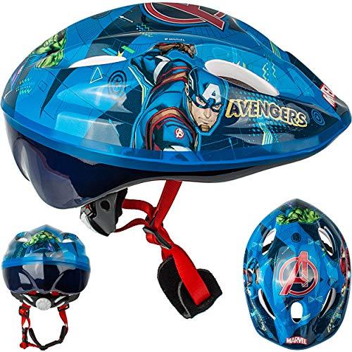 alles-meine.de GmbH Kinderhelm / Fahrradhelm - Avengers - Gr. 52 - 56 - Circa 3 bis 15 Jahre - Größen verstellbar / mitwachsend - TÜV geprüft - Helm - für Roller und Dreirad Lauf..