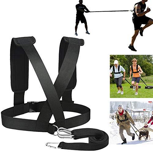 Dyda6 Fitness Resistance Training Équipement Bandoulière de musculation pour homme et femme, Bande de résistance élastique Team Sports Speed Agility Training Kit, Noir , Taille unique