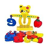 QJJ Balance Toys Balance Scales Juguetes para niños Fruits Fruits Puzzles Matemáticas Infantiles Parent-Child Interaction Llamado Juguetes Divertidos (Size : A)