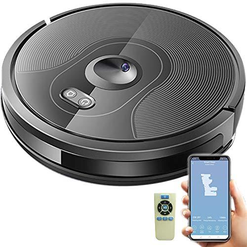 Dynasun Home X6 Robot Lava y vacío Wi-Fi vacío Suphoter App GPS Navegación Compatible con Alexa y Google Home