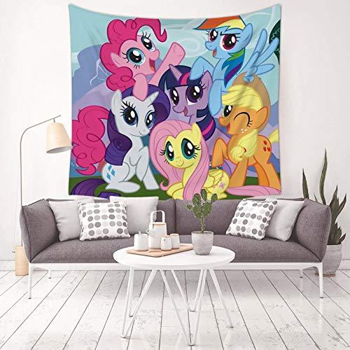 Ialvwangl My L-it-tle Po-ny - Tapiz para colgar en la pared para el hogar, dormitorio, decoración de tapices, 132 x 127 cm