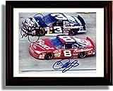 Framed NASCAR Dale Earnhardt & Dale Jr. Autograph Replica Print