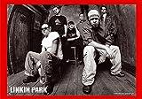 empireposter Linkin Park - Band B/W - Posterflaggen Fahne - Größe 110x75 cm
