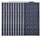 Batería solar 2 piezas 4 piezas 10 piezas 100w Panel solar monocristalino Célula solar Flexible 12v 24 voltios 100 vatios para coche/yate/barco de vapor-1000 W