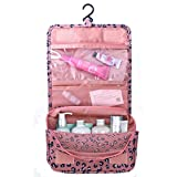 HOMPO Oxford Cloth Hanging Wash Bag with Hook Make Up Cosmetics Bag Case
