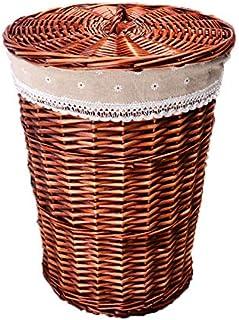 KTYX Paniers Rangement Basket Panier À Linge en Osier Tissé, Multifonctionnel pour Jouets De Salle De Bain Et D'organisati...