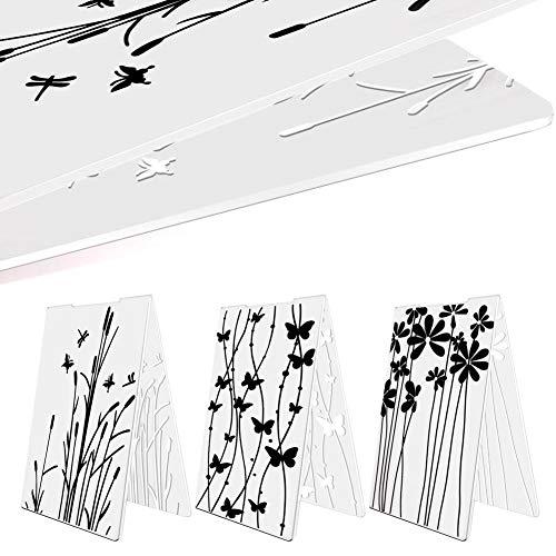 Keyzone 3Pcs Prägte Ordner für DIY Handwerk, Scrapbooking, Geschenkkarten, Gästebuch, Kartenherstellung, Fotoalbum, Kalender, Dekoration Lieferungen