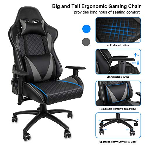 ALEXTREME Gaming Chair, Ergonomic Computer Gaming Chair Racing High Back PU Leather Adjustable Angle with Headrest Lumbar Support, Office Chair,...