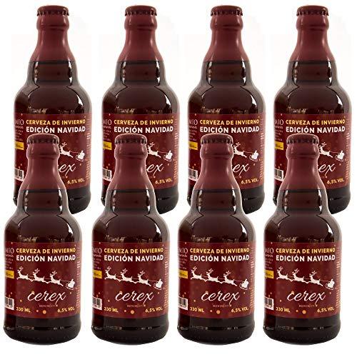 Cerveza Cerex Edición Navidad | Pack 8 botellas de 33 cl | Cerveza Artesanal | Edición limitada
