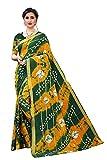 CRAFTSTRIBE Algodón impreso vino y verde indio regalo de boda sari para las mujeres
