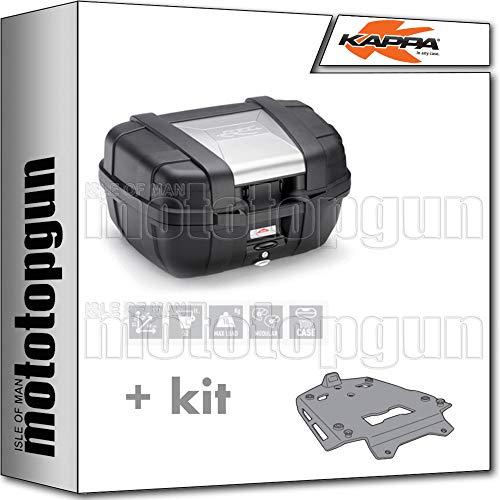 kappa maleta kgr52 garda 52 lt + portaequipaje aluminio monokey compatible con bmw r 1250 gs adventure 2020 20