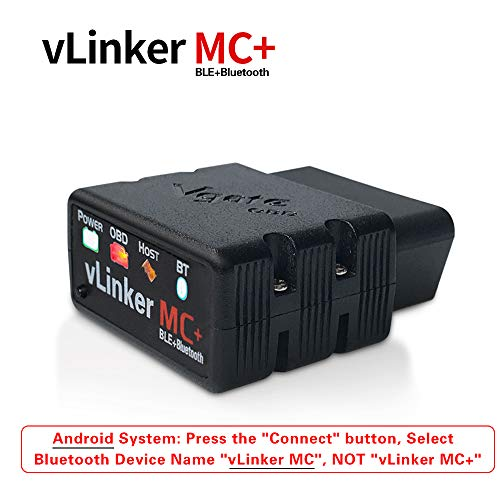 TONWON vLinker MC Bluetooth BLE4.0 OBD2 Diagnostic Scanner for Android & iOS & Windows (BLE4.0)