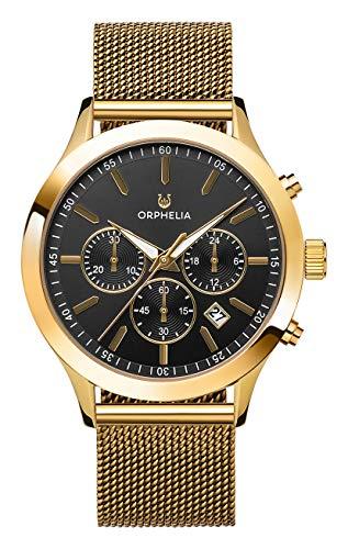 Orphelia Herren Chronograph Quarz Uhr mit Edelstahl Armband OR82805