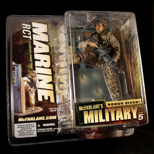 MARINE RCT CAUCASIAN VARIATION McFarlane's Military Series 5 Action Figure & 'Bonus Sized' Display