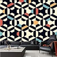 Djskhf カスタム任意のサイズ3D壁壁画壁紙現代ファッション色幾何学模様三角形3D壁ステッカー 160X100Cm