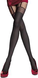 Selente Lovely Legs raffinierte Damen Strumpfhose in Strapsstrumpf-Optik, verschiedene Modelle, 20-60 DEN, made in EU