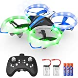 NXONE Drone for Kids and Beginners, Mini Drone with LED Lights, Altitude Hold, Headless Mode, 3D Flips, One Key Take Off/Landing and Extra Batteries, Kids Drone Toys for Boys and Girls (Blue)