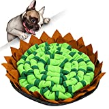 MOKHT Schnüffelteppich Hund - Groß Schnüffeldecke Hund Mit 3 Stück Saugnapf, Faltbar Schnüffelmatte als Schnüffelspielzeug & Hundespielzeug, Blütenform Schnüffelteppich für Hunde und Katze