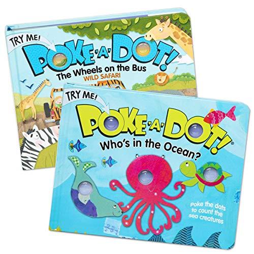 Kaplan Early Learning Company Poke-A-Dot Safari & Ocean Set