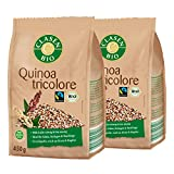 2x CLASEN BIO Quinoa Tricolore - Fairtrade, vegan und glutenfrei, biologischer Anbau - 450 g