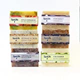 SpaLife Hand Made Soap Set - Handmade - 6 Pack - 3.5oz Each (Natural)