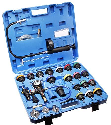 Otger Lensker 28tlg. Kühlsystemtester Kühler Abdrückgerät Kühlsystem Tester prüfen Drucktester