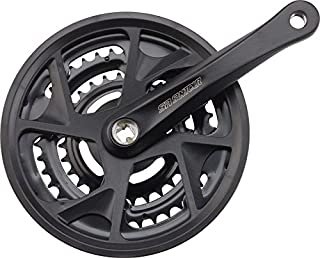 SR Suntour Crankset XR 8 speed 48/38/28 170mm Square Taper, Black