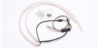 LED シリコン チューブ ファイバ- ライト 2色切り替え式 コネクター付き取り付け配線1本付属 軍手のおまけ付き 4色3サイズ(ホワイト/アンバー(橙色) 85cm)