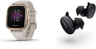 Pack - Bose Écouteurs Sport Earbuds Noir + Garmin Venu Sq Light Sand/Rose Gold