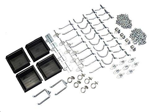 Triton 2 Products 76964 DuraHook and Hanging Bin Assortment Kit, Black, Small