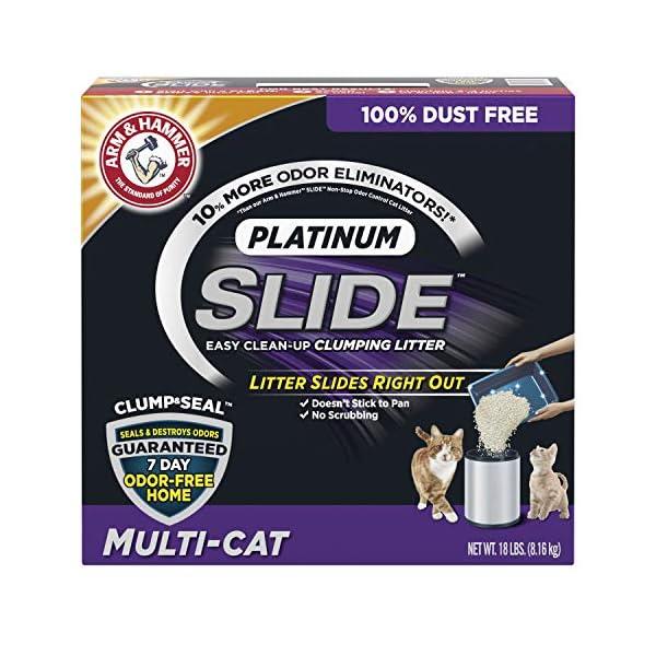 Arm & Hammer Platinum Slide Easy Clean-Up Clumping Cat Litter
