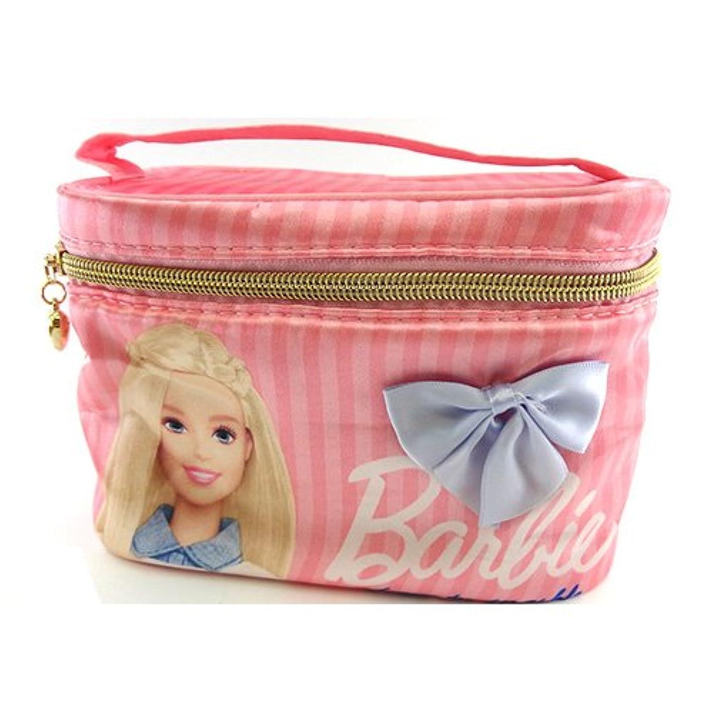 ありがたいオーナメント論争的バービー Barbie サテン バニティポーチ ライトピンク 11665【Barbie ポーチ メイク ピンク 化粧】