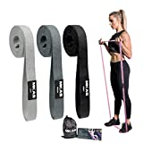 MKAS Long Resistance Bands Set Fabric Exercise Bands Resistance for Women, Cloth Loop Resistance Bands for Full Body Workout, Heavy Duty Stretch Fitness Bands Pull Up Assistance Resistance Bands Set