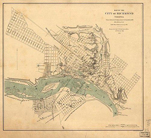 1864 The City of Richmond, Virginia Richmond, United States, Virginia- 22