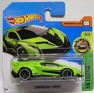 Hot Wheels 2017 HW Exotics Lamborghini Veneno Green/Black 165/365 (Short Card)