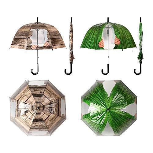 Esschert Design Regenschirm Kuckuck! Sortiertes Design, Ø 83 x 83,5 cm, Polyester/Stahl, Kunststoffgriff