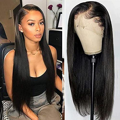 YYgY Lace Front Wigs Human Hair Straight 13x4 Lace Frontal Wig Pre Plucked with Baby Hair 100% Human Hair Wigs for Black Women 150% Denisty Brazilian Real Hair Natural Color (Straight 30Inch)