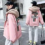 yuanyuanliu Chaqueta Suéter Más Grueso Uniforme De Béisbol Terciopelo (Color : Pink, Size : XX-Large)