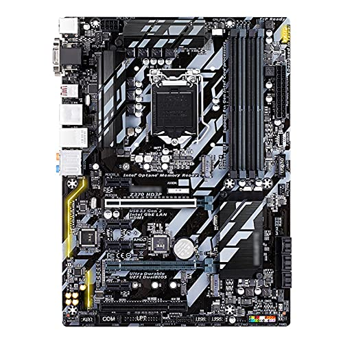 MYHJ Fit for Placa Base Gigabyte GA-Z370 HD3P Z370 HD3P LGA1151 DDR4 Z370 Compatible con Placas Base de computadora I3 8100 I5 8500 I7 8700K
