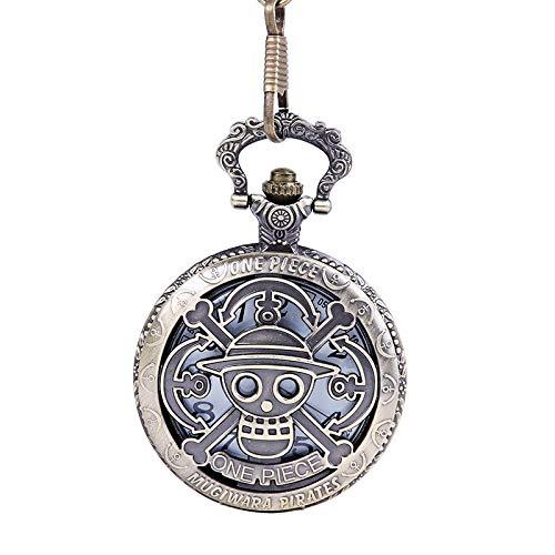 HWCOO Taschenuhren Anime One Piece Hohl Taschenuhr Große Dicke One Piece Openwork Eisen Anker Taschenuhr Uhren (Color : 1)