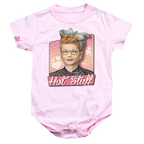 I Love Lucy - - Toddler Hot Stuff Onesie, 6 Months, Pink
