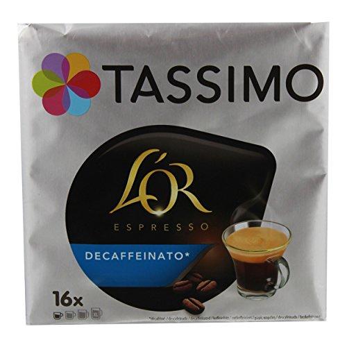 Tassimo L'Or Espresso Decaffeinato, Kaffee, Kaffeekapsel, Entkoffeinierter Gemahlener Röstkaffee, 80 T-Discs