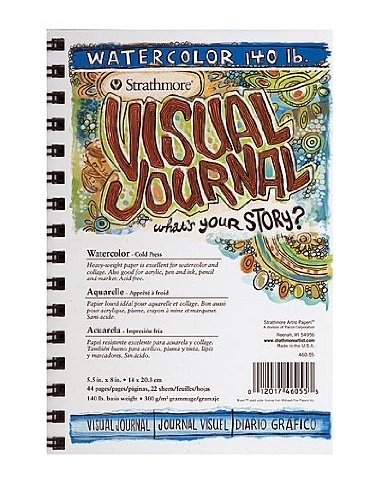 Strathmore Visual Watercolor Journals 140 lb. 5 1/2 in. x 8 in. 22 Sheets [Pack of 3 ]