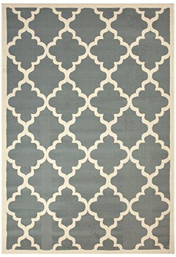 RugStylesOnline Modella Collection Trellis Modern Area Rug Rugs, Gray