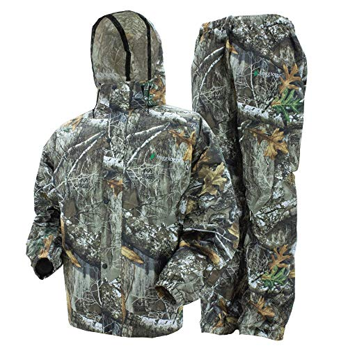 FROGG TOGGS mens Classic All-sport Waterproof Breathable Rain Suit,Realtree Edge,Large